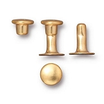 TierraCast 6mm Compression Rivets, Bright Gold Plated Brass, Package of 10