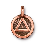TierraCast Recovery Charm, Antiqued Copper