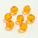 Tangerine 6mm Swarovski Faceted Round, Pkg. of 12