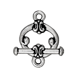 TierraCast Classic Toggle Clasp, Antique Silver