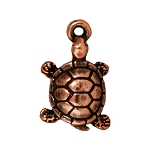TierraCast Turtle Charm, Antique Copper