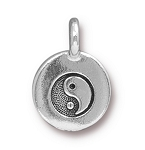 TierraCast Yin Yang Charm, Antique Silver
