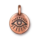 TierraCast Evil Eye Charm, Antique Copper