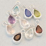 Teardrop Gemstone in Sterling Silver Bezel