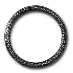 TierraCast 1.25 Inch Hammertone Ring, Antique Black Plate