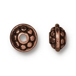 TierraCast 7mm Dotted Spacer Bead, Antique Copper