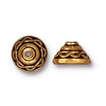 TierraCast Celtic Bead Cap, Antique Gold