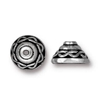 TierraCast Celtic Bead Cap, Antique Silver