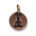 TierraCast Buddha Charm, Antiqued Copper