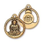 TierraCast Buddha Pendant, Antique Gold
