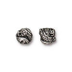 TierraCast Dragon Bead, Antique Silver