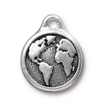 TierraCast Earth Drop, Antique Silver