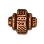 TierraCast Ethnic Barrel Bead, Antique Copper