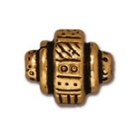 TierraCast Ethnic Barrel Bead, Antique Gold