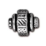 TierraCast Ethnic Barrel Bead, Antique Silver