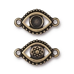 TierraCast Evil Eye Link Empty for SS20 Crystal Flatback, Brass Ox