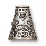 TierraCast Flowering Cone, Antique Silver