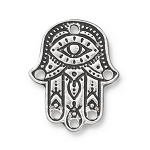 TierraCast Hamsa Hand Link, Antique Silver