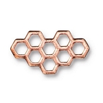 TierraCast Honeycomb Link, Antique Copper