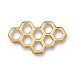 TierraCast Honeycomb Link, Antique Gold