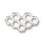 TierraCast Honeycomb Link, Antique Silver
