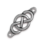 TierraCast Infinity Centerpiece Link, Antiqued Pewter