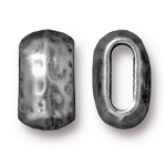 TierraCast Large Hammered Barrel Bead, Antique Pewter, Pkg. of 4