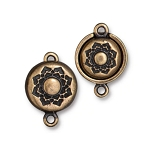 TierraCast Magnetic Lotus Clasp, Brass Ox