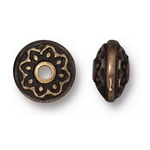 TierraCast Lotus Spacer Bead, Brass Ox