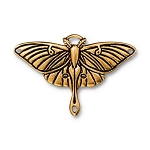 TierraCast Luna Moth Pendant Link, Antique Gold