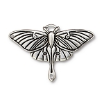 TierraCast Luna Moth Pendant Link, Antique Silver