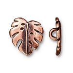 TierraCast Monstera Leaf Button, Antique Copper