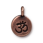 TierraCast Om Charm, Antiqued Copper