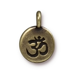 TierraCast Om Charm, Brass Ox