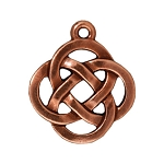 TierraCast Open Round Pendant, Antiqued Copper