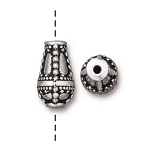 TierraCast Opulence Teardrop Bead, Antique Silver