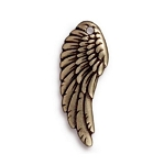 TierraCast Right Angel Wing Charm, Brass Ox