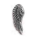 TierraCast Right Angel Wing Charm, Antique Silver