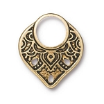 TierraCast Temple Ring Link, Antique Gold