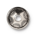 TierraCast Western Bead, Antique Silver