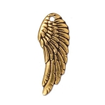 TierraCast Left Angel Wing Charm, Antique Gold