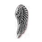 TierraCast Left Angel Wing Charm, Antique Silver