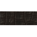 TierraCast Black Hornback Leather Strip, 1/2 x 10 Inches