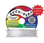Beading Wire, AccuFlex Pearl 49 Strand, 0.019 Inch, 30 ft.