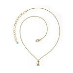 TierraCast Sea Star Necklace, Antiqued Gold