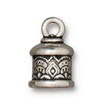 TierraCast 6mm Temple Cord End, Antique Silver Plate