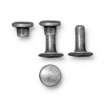 TierraCast 6mm Compression Rivets, Tin Oxide Plated Brass, Package of 10