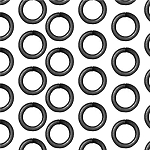 TierraCast 7mm 16 Gauge Jump Rings, Black