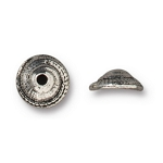 TierraCast 7mm Shell Bead Cap, Antique Silver