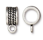 TierraCast 8mm Rope Bail, Antique Silver Plate